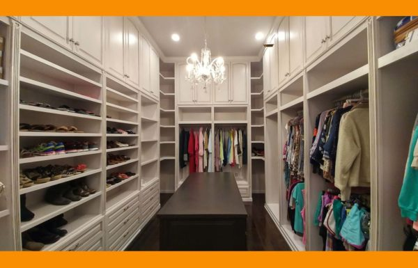 Cabinets in a closet?